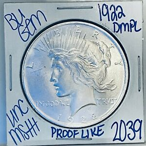 1922 BU GEM SILVER PEACE DOLLAR COIN #2039 FREE SHIPPING UNC MS+++