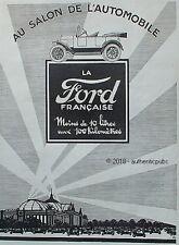 PUBLICITE FORD SALON AUTOMOBILE MOINS DE 10 LITRES AUX 100 KM DE 1924 FRENCH AD