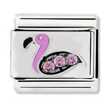 GENUINE Nomination Classic Flamingo & Pink CZ Charm 330304/31 / £29 RRP