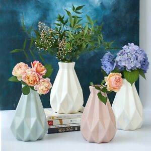 Imitation Vase Ornaments Plastic Pot Vase Ceramic Decorate Flower Home Set
