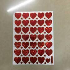 STICKER HEART JAPAN ART VINTAGE DIY SCRAPBOOK CRAFT REWAR MATTE SMILE RED LOVE 7