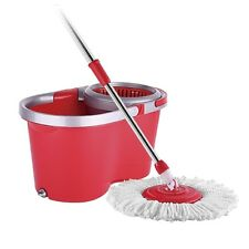 Flymop 360 Spin Round & Fixed Microfiber MOP Head With Bucket