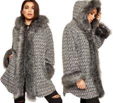 Cappotti e giacche da donna grigi lunghezza ai fianchi misto lana