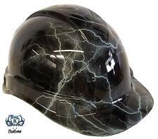 Hydro Dipped Hard Hat High Gloss Light Grey Lightning 6 Point Ratchet System