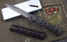 Cold steel Schwarz Hochleistungs-Schwarz Tactics Klappmesser Liner Lock Saber