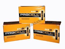 NEW DURACELL PROCELL AAA ALKALINE BATTERIES 72 (3 BOXES OF 24) EXP 5+ YRS