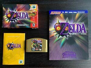 Zelda Majora's Mask (N64) Nintendo 64 *Complete Box CIB* (with Player's Guide)