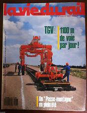 La Vie du Rail  n°2107 du 8/1987; TGVA 1100 m de voie par jour ! / Espagne 160