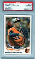 "2013 Topps Fielding #270  ""Manny Machado"" RC @LOOK@ PSA 10 ""on fire"" Padres xy6"