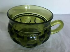Lovely Vintage Indiana King Crown Thumbprint Green Glass Cup/Mug