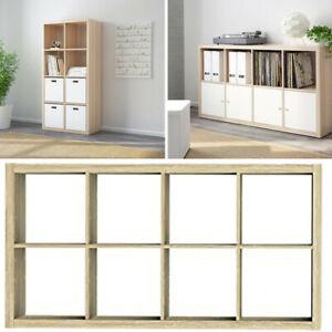 Ikea KALLAX Storage Organiser Shelving Unit Living Room White Stained Oak Effect
