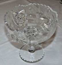 Crystal Glass Candy Dish pedestal Potpourri candy dish Compote flowers clear ~