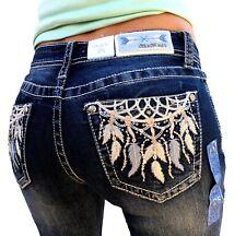 Grace In LA Mid Rise Dreamcatcher Easy Bootcut Jeans 26 27 28 29 30 31 32 33 34