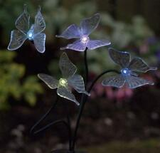 Solar Power LED Garden Light 4 Butterflies Lights on 73 cm High Stake