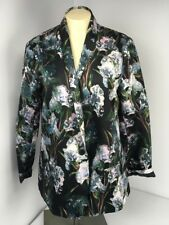 Black Floral Boyfriend Blazer ASOS jacket printed Pink Black NWOT US-10 UK-14