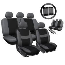 10-Piece Set Car Seat Cover for Auto w/Steering Wheel/Belt Pad/Head Rest