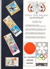 Jemen Gedenkbriefmarkenalbum Olympia Sapporo leer
