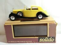 SOLIDO 1:43 GOLDEN AGE 1925/1940 - 1939 ROLLS ROYCE - YELLOW & BLACK #71 - BOXED