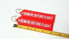 Remove Before Flight Double Sided Red Embroided Keychain Tag 1 pc   Tampa FL