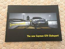 PORSCHE OFFICIAL CAYMAN GT4 CLUBSPORT RACE CAR BROCHURE 2016 USA EDITION NEW