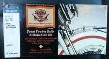 Harley Davidson OEM Original Chrome Front Fender Rail Trim Kit MADE IN USA