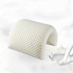 100% Natural Latex Soft Comfortable Standard Pillow Neck Pain Relief W/ Case UK