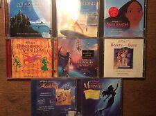 Walt Disney [8 CD Soundtrack] Little Mermaid Lion King Aladdin Beauty and Beast