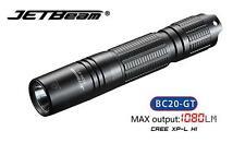 Nouveau jetbeam BC20-GT charge usb cree xp-l hi 1080 lumens led lampe de poche (18650)