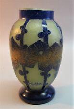 "Very Fine SCHNEIDER ""CHARDER"" FRENCH Art Deco Cameo Glass Vase  c. 1925 antique"