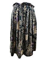 Vintage Women Skirt Floral Print Aline Gold Button Front Blogger Spring 12 14 L