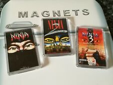 The Last Ninja 1,2,3 Fridge Magnet Set. Retro Gaming Box Art. Commodore
