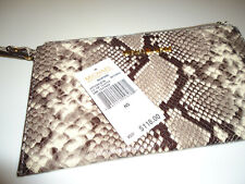 NWT- Michael Kors Bedford Large Zip Leather Clutch