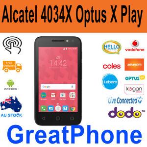 Brand New Alcatel 4034X 3G Black Phone -Unlocked to Vodafone & Optus Network