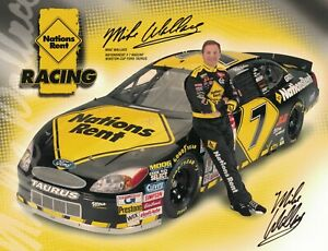 Mike Wallace Signed Autographed 8 x 10 Photo Nascar Driver