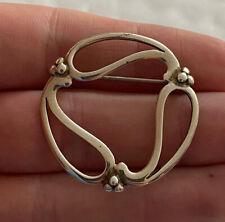 Solid Silver Designer Vintage Brooch, 925 OMG