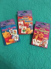 Set Of 3 New Disney Winnie The Pooh Early Skills 36 Cards Colors/Shapes, Words