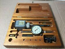 Vintage Lufkin 399 Plunger Dial Test Indicator 001 Grads And Miti Mite Kit Usa