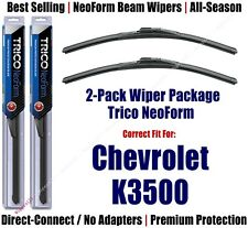 2-Pack NeoForm Wipers - fit 1988-2000 Chevrolet/Chevy K3500 - 16180x2