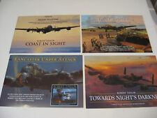 Lot of 4 RAF Lancaster Bomber Robert Taylor Aviation Art Advertising Brochures