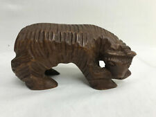 "Hand Carved Grizzly Bear 6"" Wooden Figurine Home or Office Decoration"