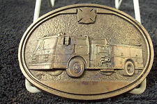 AWARD DESIGN MEDALS FIRE TRUCK UNFINISHED BUCKLE[675]