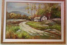 GRANDE QUADRO AD OLIO DEL MAESTRO A. CYRUS MORENO cm. 90 x 60