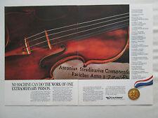 1/1990 PUB LOCKHEED ANTONIO STRADIVARI STRADIVARIUS VIOLIN VIOLON GROSS AWARD AD