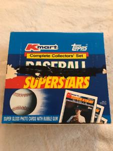 Full Case 1990 Topps KMART Baseball SUPERSTARS Sets, 24 Unopened Factory Sets