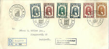 Iceland 1944 Founding of Republic set on registered first day cover.