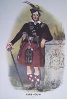 Clan Chisholm - Scottish Tartan Art Print - MATTED