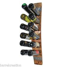 Wine Barrel Stave Wine Bottle Rack holds 12 Wine Bottles Wall Mount, Made By WBC