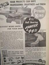 Vintage 1948 ATLAS POWER KING JOINTER FLOOR SAW JIG LATHES SANDERS
