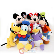 Disney Mickey Mouse and Friends Plush Doll Collection Set 6pc Duck Pluto Goofy