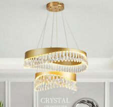 Crystal Ceiling Lamp Round LED Warm Room Indoor Lights Household Light Fixtures